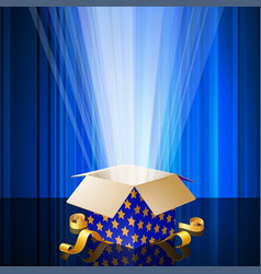 shining magic gift box vector image