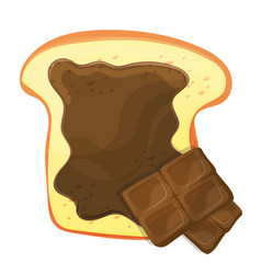 Slice of bread or toast with brown sweet vector