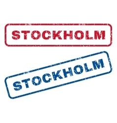 Stockholm rubber stamps vector