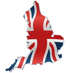 UK Map with British Flag vector image vector image