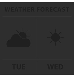 Weather forecast - gray icons vector