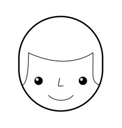 Young man head avatar character vector