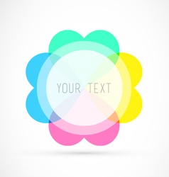 Colorful editable badge with your text vector