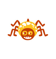 Cute funny cartoon spider colorful character vector
