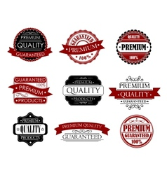 Set of labels for design vector image