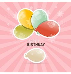 Happy Birthday Retro with Balloons vector image
