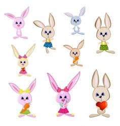 gay rabbits vector image