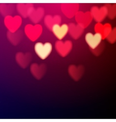 Shiny hearts bokeh vector