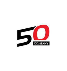 50 letter logo-01 vector image vector image