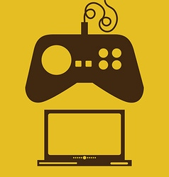 Video game design vector