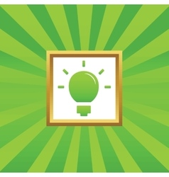 Light bulb picture icon vector