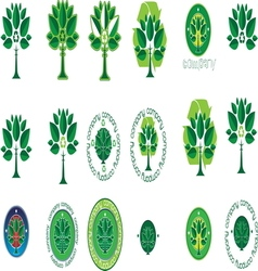 Green tree resize vector