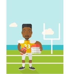 Rugby player on stadium vector