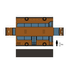 Paper model of a brown bus vector