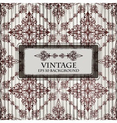 grungy floral vintage background vector image