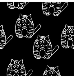 Funny seamless pattern with cat baby cat vector