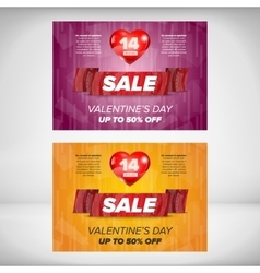 Valentine day sale banner vector