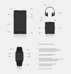 Set of gadgets electronic devices vector