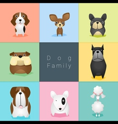 Set of dog family 2 vector