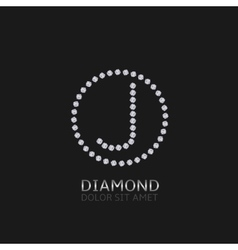 J letter with diamonds vector