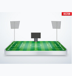 Concept of miniature tabletop football stadium vector