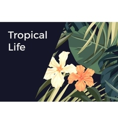 Summer tropical hawaiian background with palm tree vector