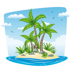 a tropical isle landscape vector image vector image