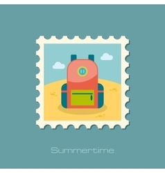 Backpack stamp Travel Summer Vacation vector image vector image