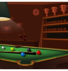 Billiard balls composition on green pool table vector