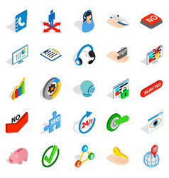 career icons set isometric style vector image