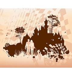 Castle Lovers Concept Background vector image vector image
