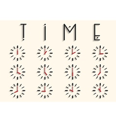 Clocks with transparent shadow vector image
