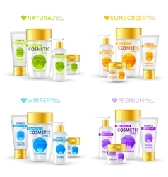 Cosmetic Series Packaging Design vector image vector image
