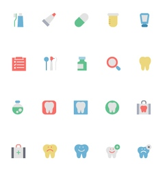 Dental colored icons 1 vector