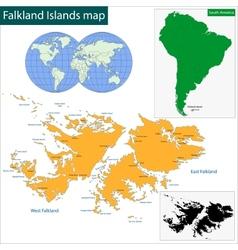Falkland Islands map vector image