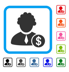 Financial judge framed icon vector
