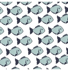 Fish background decoration vector