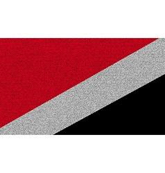 Flags Sealand Principality on denim texture vector image vector image