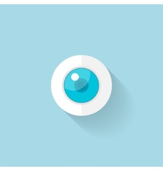 Flat web icon Eye vector image