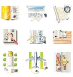 freight transportation icons vector image vector image