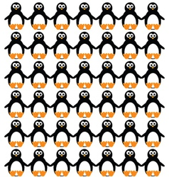 Funny and sweet penguin set vector