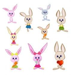 gay rabbits vector image vector image