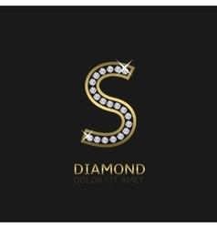 Golden Letter S vector image