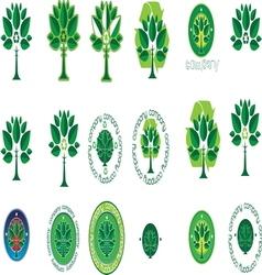 Green tree resize vector