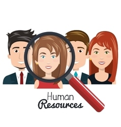 human resources people choose flat design vector image