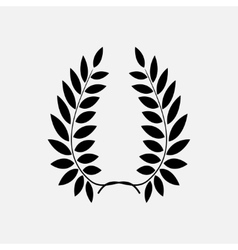 Laurel wreath tattoo Black ornament sign on vector image vector image
