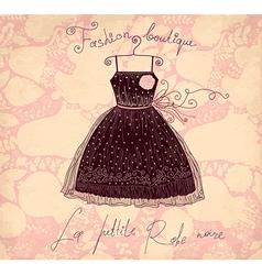 Little black dress vector
