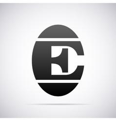 logo for letter E Design template vector image