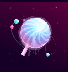 lollipop vartoon planet vector image vector image