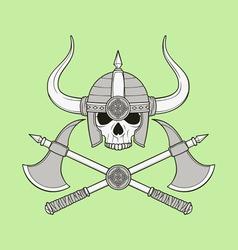 Monochrome skull vector